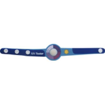Image of Promotional branded UV tester wrist strap