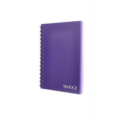 Image of A5 Wirobound Book - Opaque Polypropylene Cover - Foil Blocked