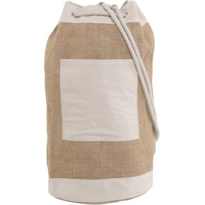 Image of Promotional printed Jute duffel bag