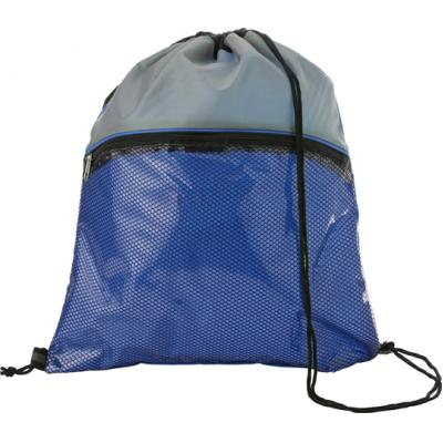 Image of Promotional drawstring backpack with mesh pocket