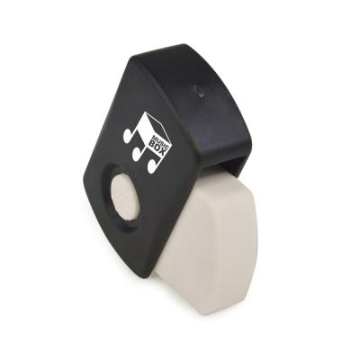 Image of Covered Eraser 4.5Cm White Eraser With Black Plastic Cover