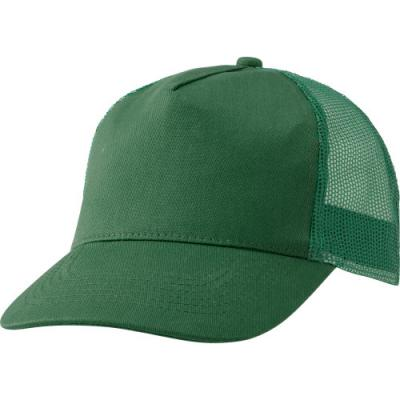 Image of Cotton twill and plastic five panel cap.