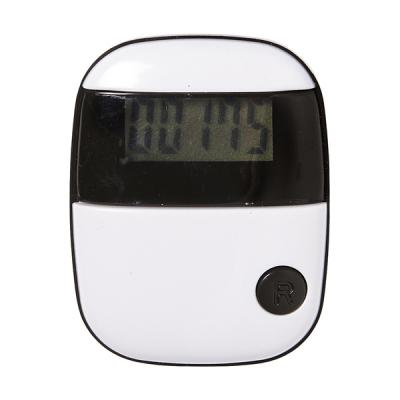 Image of Plastic pedometer with step counter, calorie counter and belt clip.