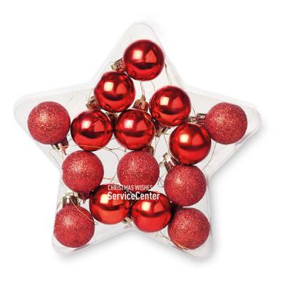 Image of 15 baubles in star shape