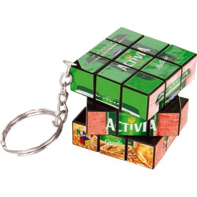Image of Promotional printed Rubiks Keychain branded