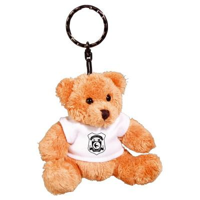 Image of Promotional branded Teddy Bear Keyring with White T Shirt