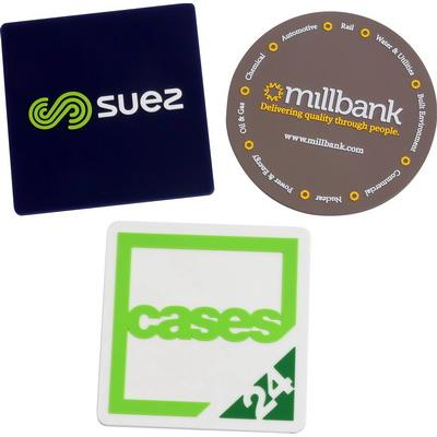 Image of Promotional Custom PVC Shaped Coasters
