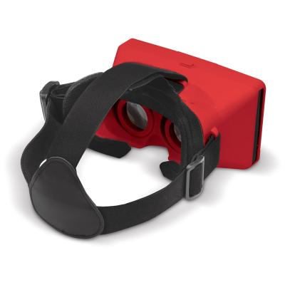 Image of Promotional Virtual Reality Phone Holder with headstrap in Red