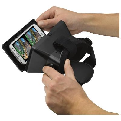Image of Branded Virtual Reality Phone Holder with headstrap in White