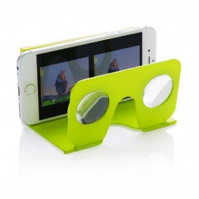 Image of Promotional Printed Mini Folding Virtual Reality Glasses Green