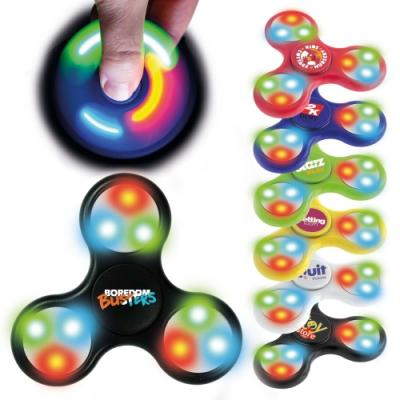 Image of Promotional LED Fidget Spinners Bright Colours