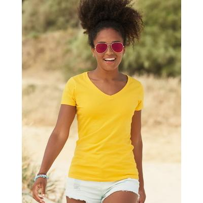 Image of Fruit of The Loom Lady-Fit Valueweight V-Neck T-Shirt