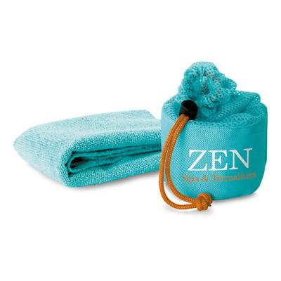 Image of Fitness towel in mesh pouch