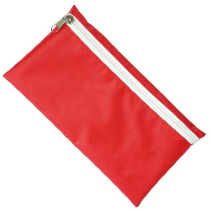 80443d524f24e0 Nylon Pencil Case - Red (White Zip) :: Pencil Cases :: JEM Promotions