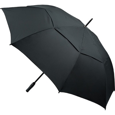 Image of Promotional Automatic Vented Golf Umbrella - Black