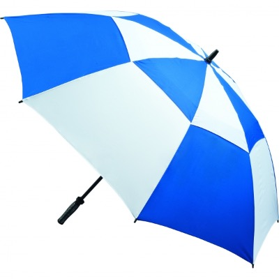 Image of Promotional Vented Golf Umbrella - Royal and White