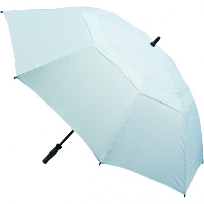 Image of Branded Vented Golf Umbrella - White