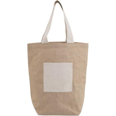 Image of Promotional printed Jute beach bag