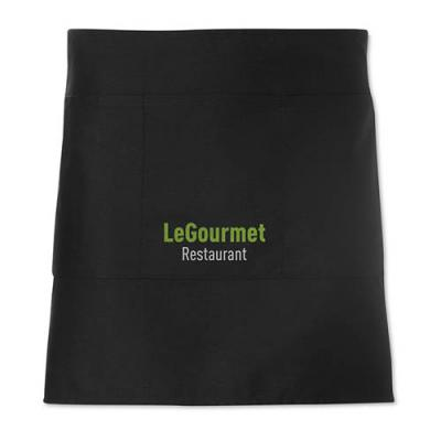 Image of Short Promotional Waiter's apron in black or white