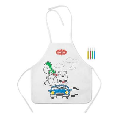 Image of Childs Promotional apron with 4 pen markers