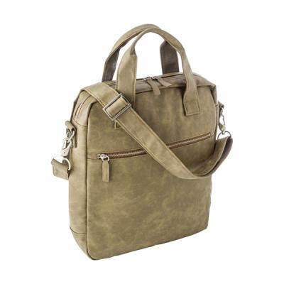 Image of Laptop shoulder bag in a soft PU material.