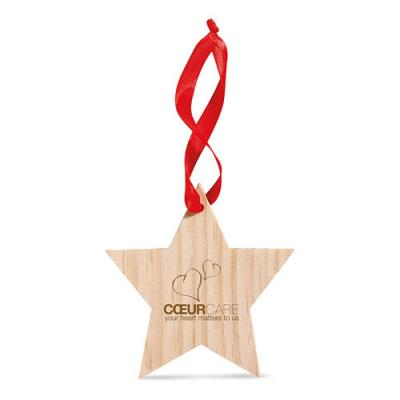 Image of Promotional Star shaped Christmas Tree Decoration