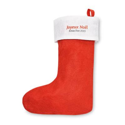Image of Promotional branded Christmas stocking