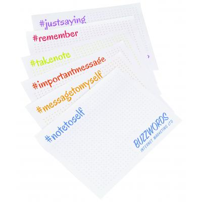 Image of Promotional Sticky Notes with changing print
