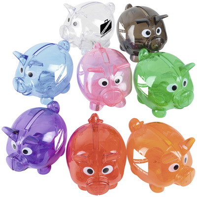Image of Promotional Mini Piggy Bank Black