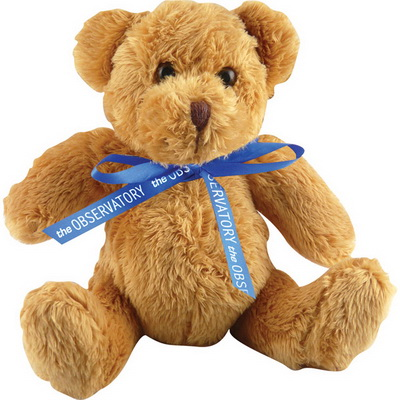 Image of Promotional Teddy Bear with printed Neck Bow