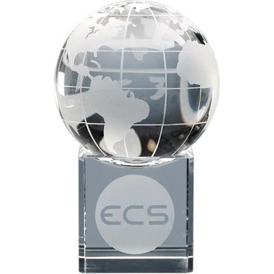 Image of 6cm Optical Crystal Globe on Clear Base