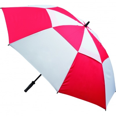 Image of Promotional branded Vented Golf Umbrella - Red and White