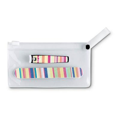 Image of Promotional manicure tools in clear pouch
