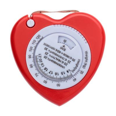Image of Promotional heart shaped BMI tape measure