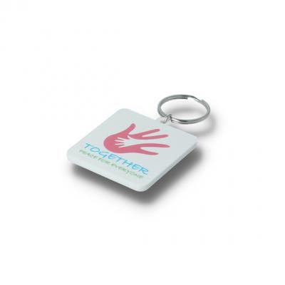 Image of Recycled 45mm Square Keyring