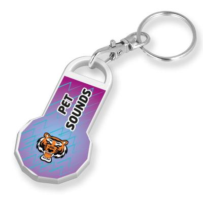 Image of Recycled NEW £ Trolley Stick Keyring