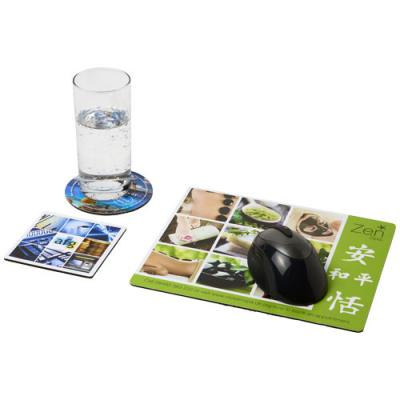 Image of Q-Mat® mouse mat and coaster set combo 1